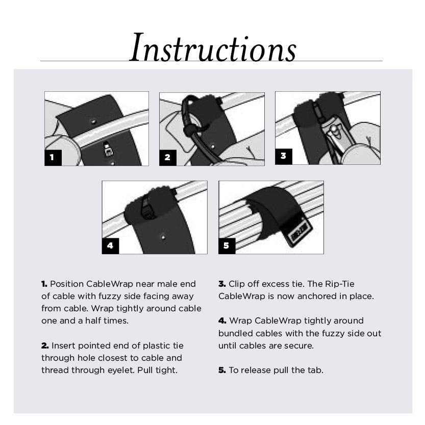 Velcro Cable Wrap 1 inch instructions