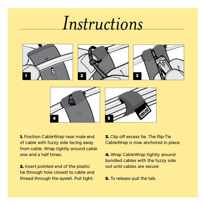 instructions original cable wrap