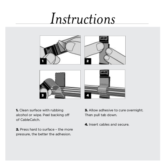Velcro cable tie instructions