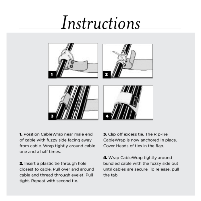 Cable Wrap 2 inch instructions