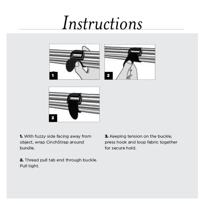 reusable velcro cable wraps instructions