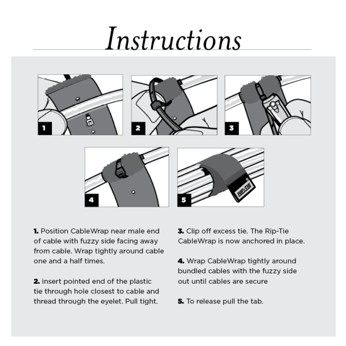 Velcro Cable Wrap instructions